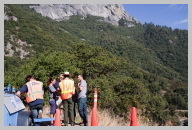 Road to Sequoia National park 2 - Waiting for out turn on the Section that was Under Repair.jpg