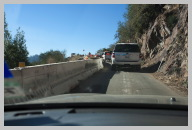Road to Sequoia National Park 4 - Starting the Escorted Caravan through the One Lane Road.jpg