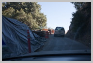 Road to Sequoia National Park 5 - Driver Views of the Escorted Caravan through the Road Construction.jpg