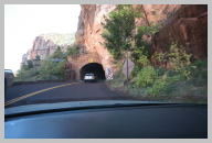 Tunnel is the only way out of Zion Canyon heading to Bryce Canyon 1.JPG