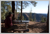 Stopped to cook lunch on a picnic table at the North Rim.jpg